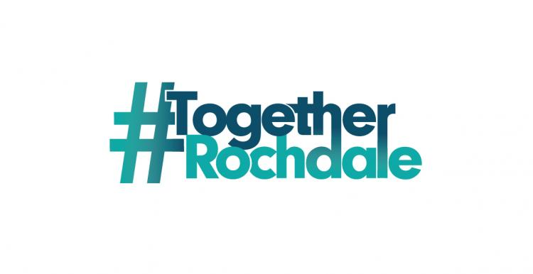 #TogetherRochdale logo white
