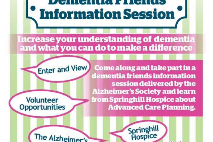 Dementia Information Session poster