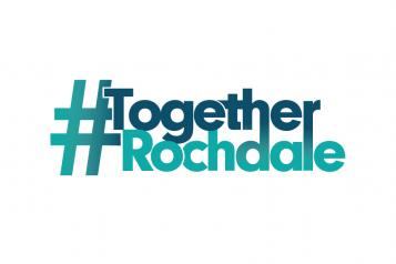 #TogetherRochdale logo white