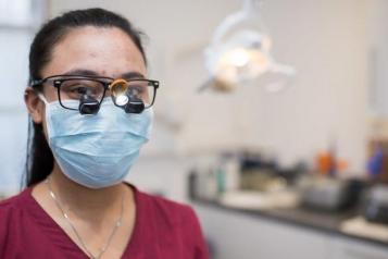 Dentist wearing a Face Mask