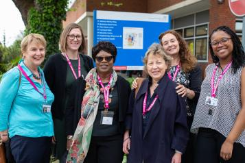 A group of Healthwatch staff and volunteers