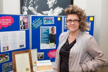 Woman at an Information, Advice and Signposting Surgery