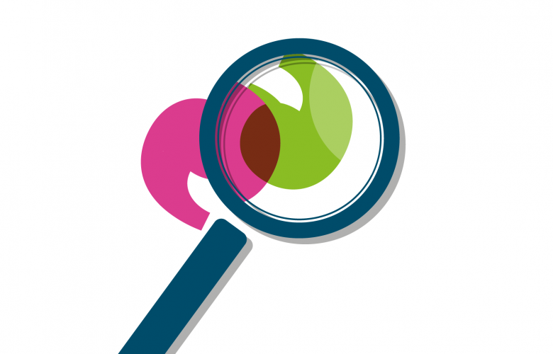 Magnifying glass graphic